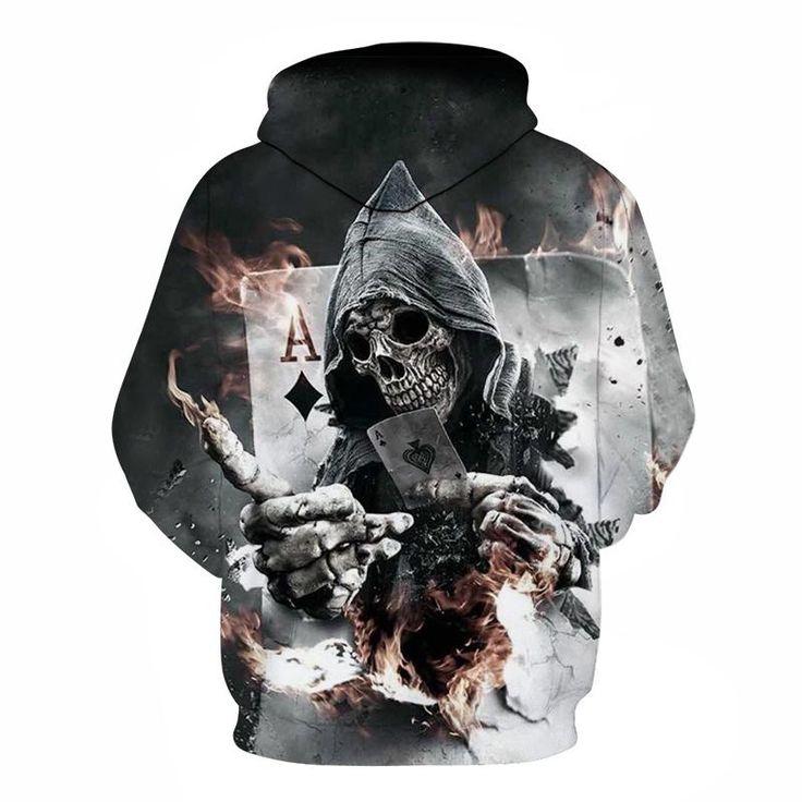 #Skull #Poker #Hoodies #Sweatshirts