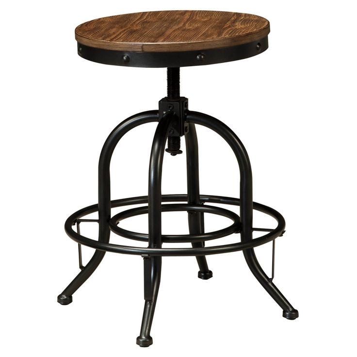 Signature Design by Ashley Pinnadel Wood Backless Counter Height Stools - Set of 2 - ASHY385