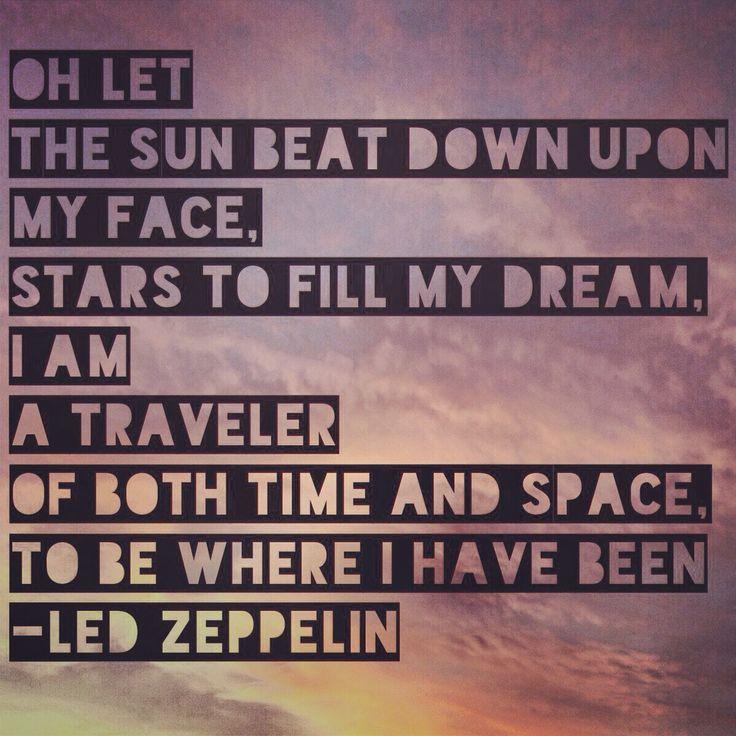 Led Zeppelin lyrics for Kashmir.