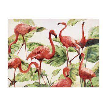 Leinwandbild FLAMINGO mit Flamingos, 90 x 120 cm