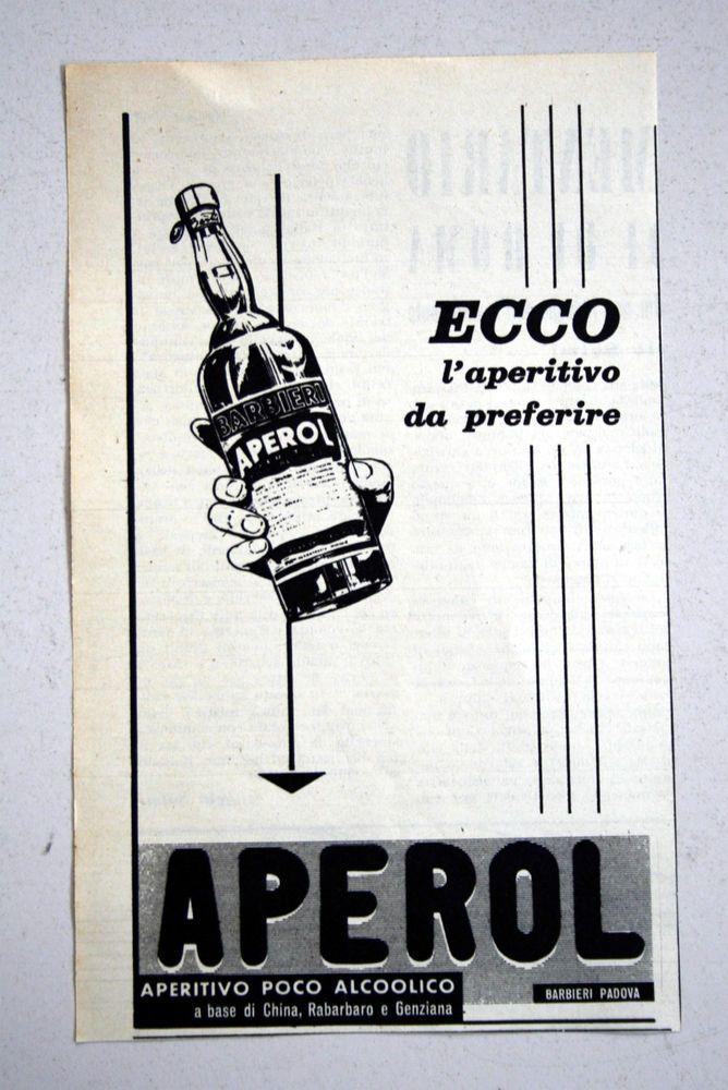 PUBBLICITA  1961 APEROL BARBIERI aperitivo vintage RITAGLIO GIORNALE