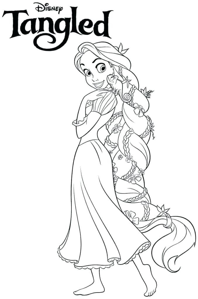 Free Printable Disney Princess Coloring Pages Locca Info Tangled