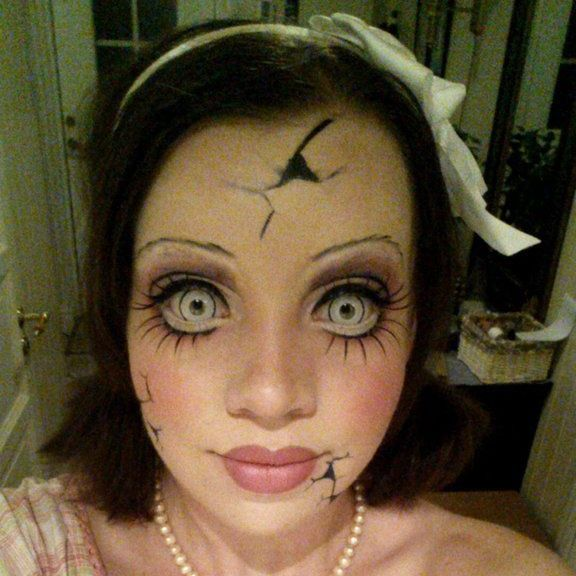 porcelain doll makeup with contacts halloween. Black Bedroom Furniture Sets. Home Design Ideas