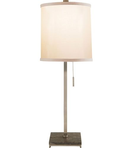 Visual Comfort Barbara Barry Philosophy 1 Light Decorative Table Lamp in Pewter Finish BBL3032PWT-S #visualcomfort #lightingnewyork #lighting