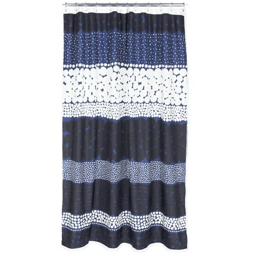 Marimekko Jurmo Midnight Long Shower Curtain