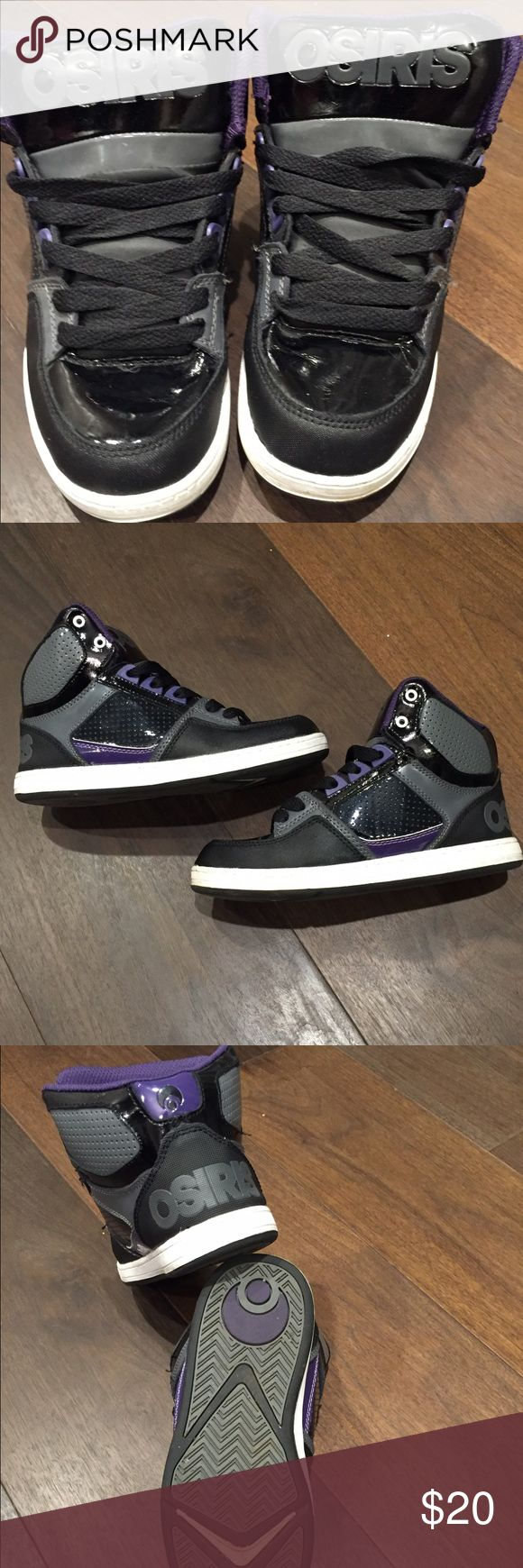 Shoes Barely used black and purple Osiris high top shoes Osiris Shoes Sneakers