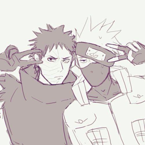 Naruto - Kakashi Hayate x Obito Uchiha - KakaObi