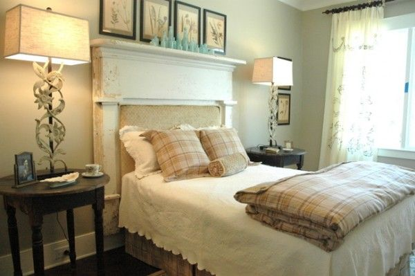 Paint Colors for Show House Revealed Designed by Scarlett Scales.  Love the fire place mantle headboard.