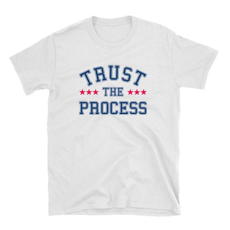 Trust The Process - Tank and Rebuild Philadelphia Basketball 100% Cotton Shirt #philadelphia #philadelphia76ers #joelembiid
