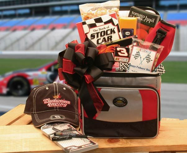 "cool And The Race Is on - Nascar  Lovers Gift Chest  (Lg) """"And the Race is On"""" to answer the door when the NASCAR Lovers gift basket arrives bursting at the seams with gifts of fun and good taste for the ..."