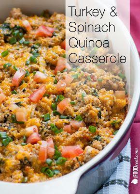 turkey and spinach quinoa casserole