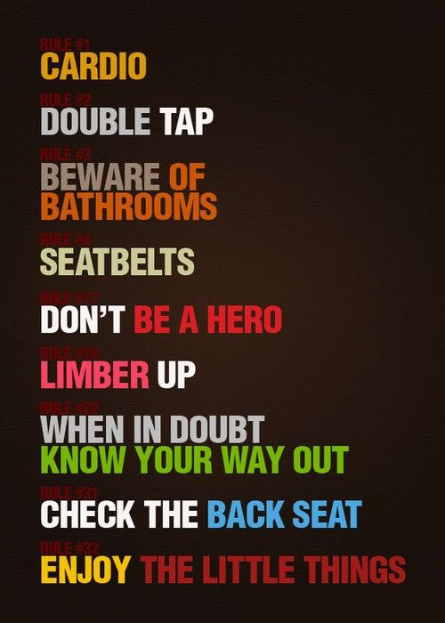 zombie rules: Zombies Apocalypse, Remember This, Cardio, Life Lessons, Favorite Movies, Taps, Great Movies, The Rules, Zombieland Rules