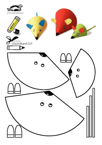 10-Paper-Crafts-For-Kids-Free-Printable-Mouse                                                                                                                                                                                 More