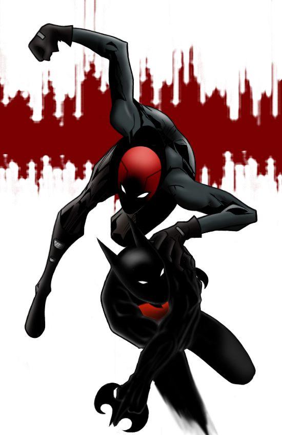 Red Hood vs Batman Beyond  by ~CrimsonHorror
