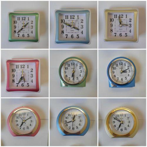 £5.49 Brand New Quartz Alarm Clock Travel Alarm Clock Analogue with Box Many Colours | eBay