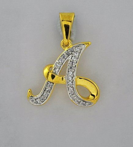 Style No.:Alphabetical Pendant PPD-00586 Diamond Weight:0.09 Ct Price  : 9507.00 NO OF STONE-24 SHAPE -ROUND COLOR-G-H CLARITY- SI CERTIFICATE -  GOLD WEIGHT -2.19gm GOLD PURITY - 14kt GROSS WEIGHT - 02.20gm Chain not included