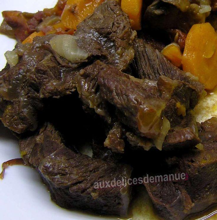 Boeuf carottes au vin rouge de Bourgogne et purée