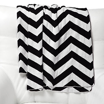 Curl up in this Black & White Zig Zag Chevron Throw, $59.95