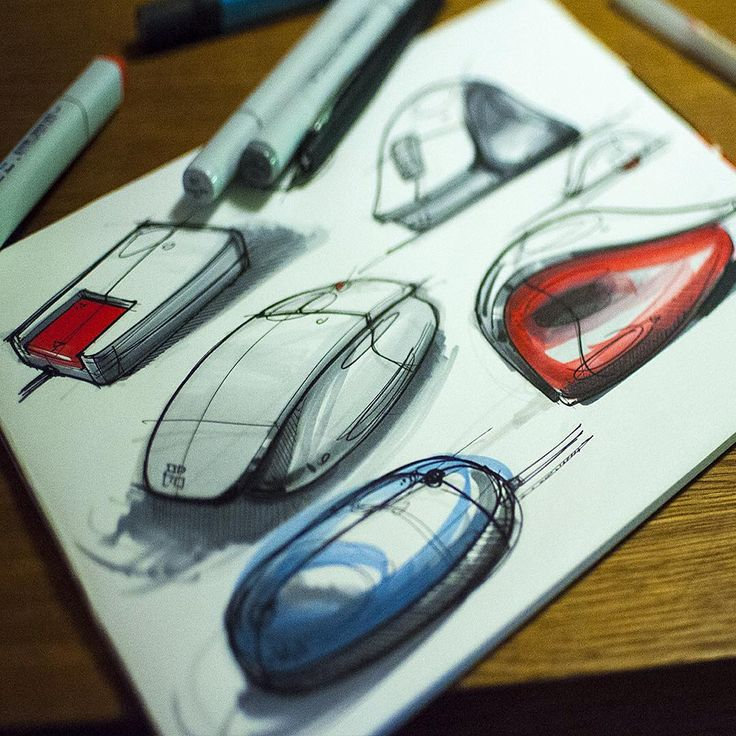 Here are some explorative  iteration sketches on computer mouses. I find these…