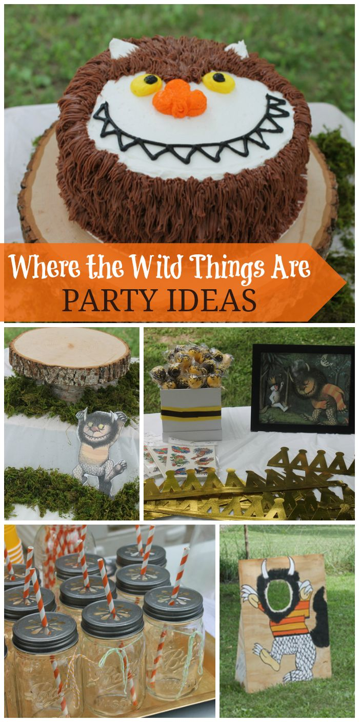 Let the wild rumpus begin at this fun Where the Wild Things Are 1st boy birthday party!  See more party ideas at CatchMyParty.com!