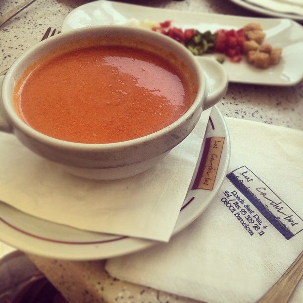 Gazpacho, Barcelona and Lunches on Pinterest