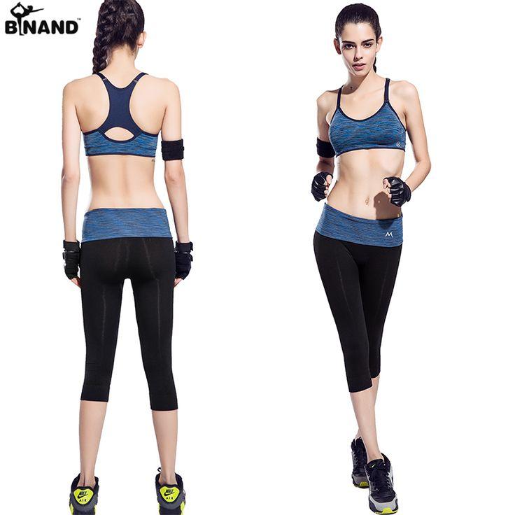 2016 nuevo de las mujeres de yoga conjuntos de ropa deportiva de gimnasio correr y trotar elasitic culturismo gimnasio inconsútil racerback trajes para las mujeres