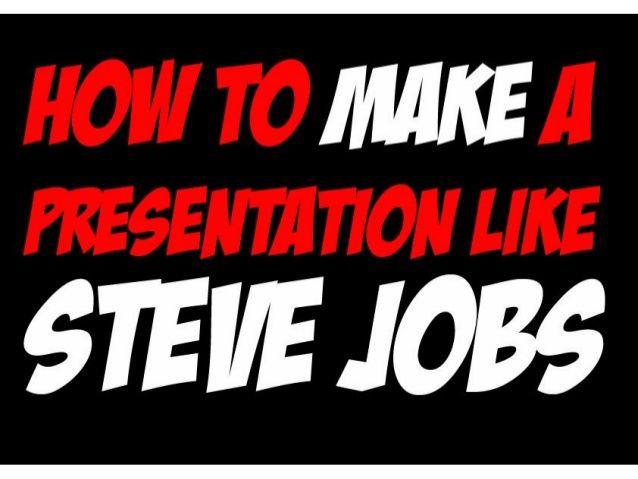 How to make a presentation like Steve Jobs by SeoCustomer.com via @slideshare #presentation