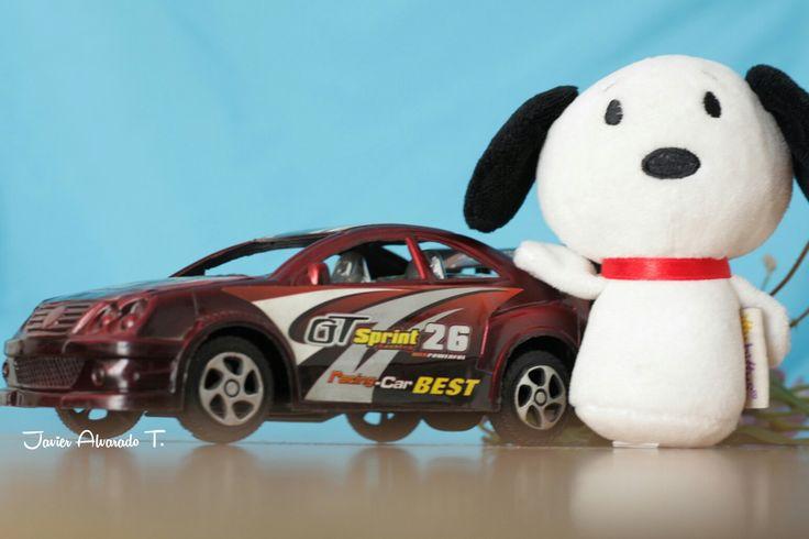 Snoopy, presume su auto 2017. #ImagenesUrbanas #Fotografias