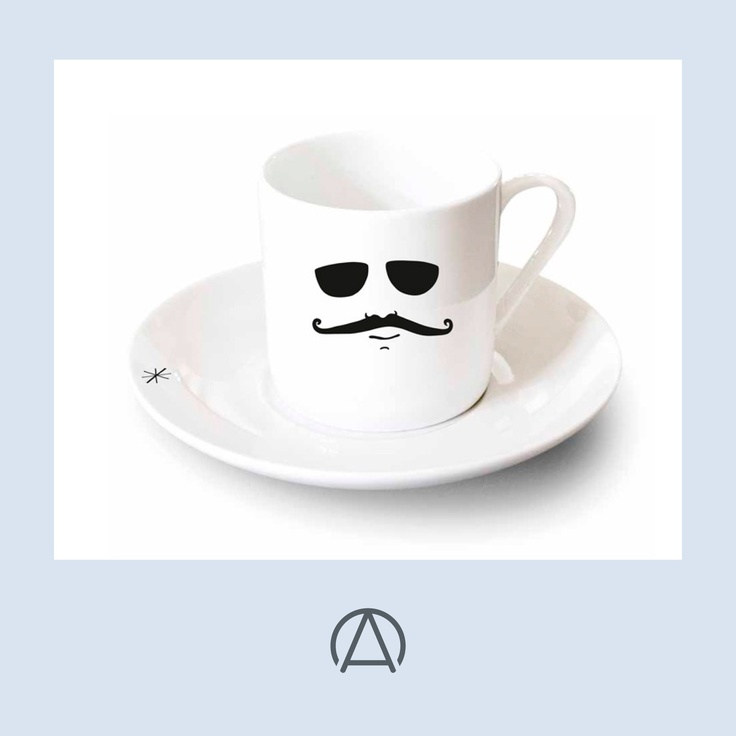 The Carlito espresso cup by Be-Kind. A perfect gift for any coffee fiends taking part in Movember!. Available from www.africandy.com.