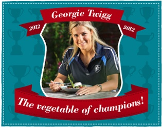 Scott Mills and his Radio 1 crew have just discovered that Georgie Twigg, hockey player, Olympian, medal winner and British asparagus lover - No money changed hands Scott, she's a real fan who comes from Lincolnshire where it's grown
