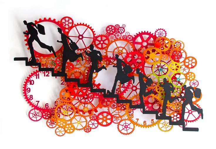 Uri Dushy - Works of Art - Wall Sculptures: Running Up 3L