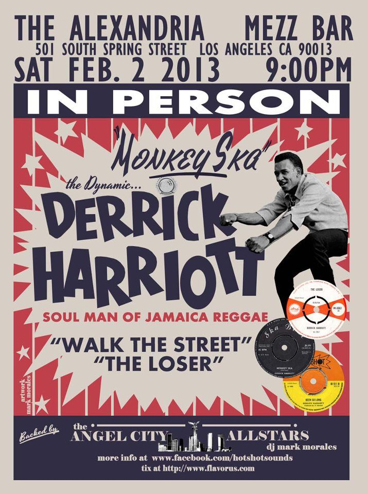 Derrick Harriot to Play LA Feb 2 Tickets on Sale Now | Lawless Street
