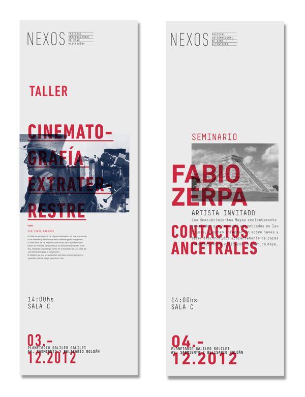NEXUS - Seminars and Workshops by Sebastian Angresano, via Behance