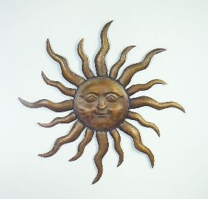 Sun Face Wall Art | Metal Sun Face Home Decor (PL08 9245)