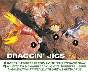 Top five big bass jigging tactics