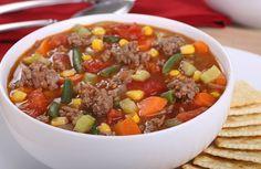Hamburger Vegetable Soup Recipe via @SparkPeople
