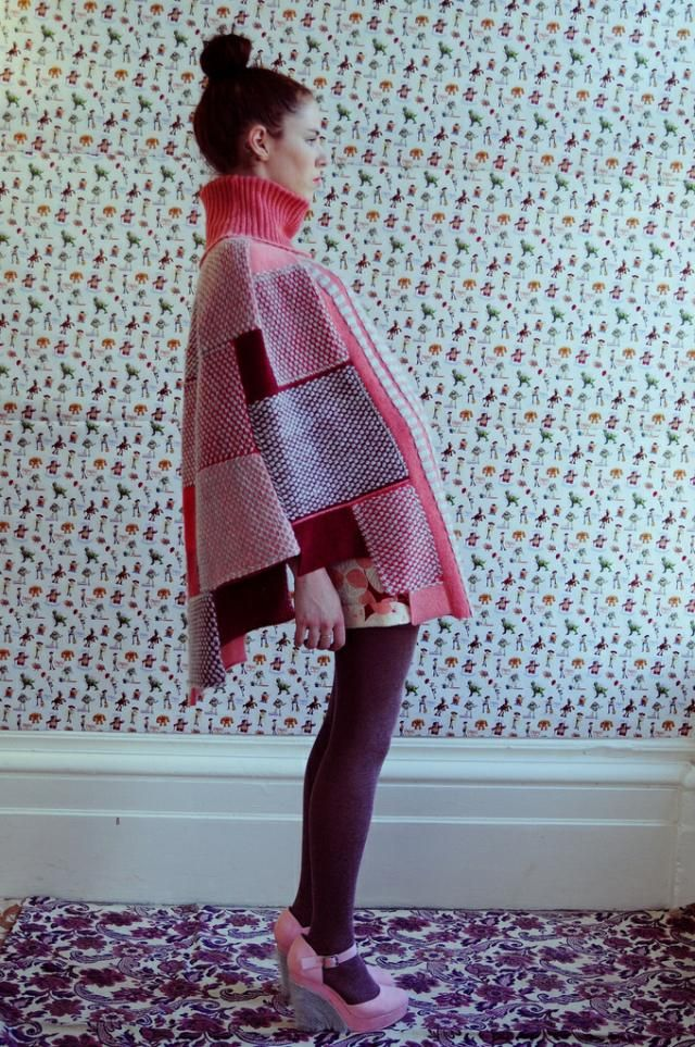 Elizabeth Dyson- Ok, I couldn't wear these shoes, but I love the poncho! .. with a narrow skirt, jeans, leggings,