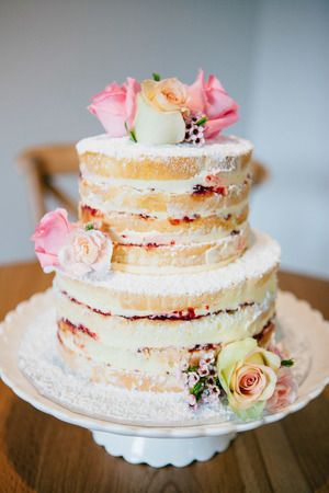 Vanilla pod naked layer wedding cake with fresh florals.jpg