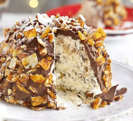 And let's not forget dessert! Try this chocolate, ginger & praline bombe. #dessert #food #recipes