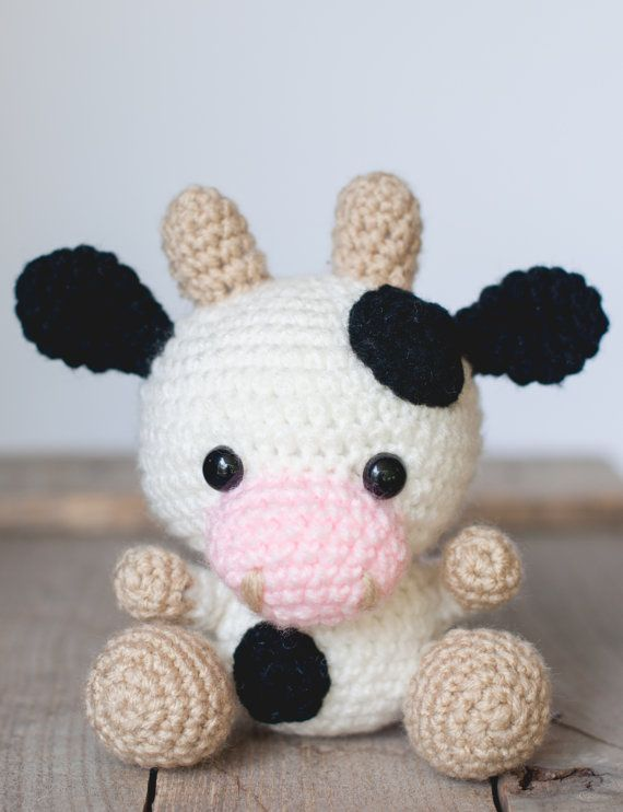 PATTERN: Crochet cow pattern - amigurumi cow pattern - crocheted cow pattern…