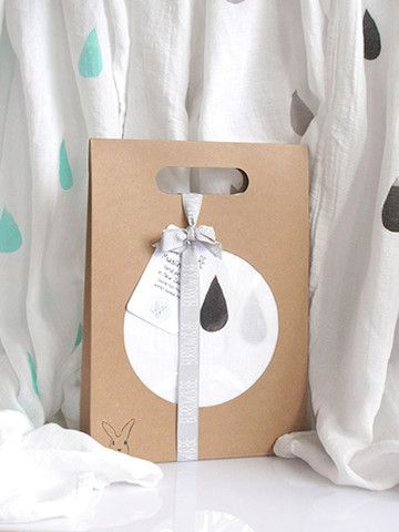 Bamboo/cotton muslin wrap -Waterfall Print