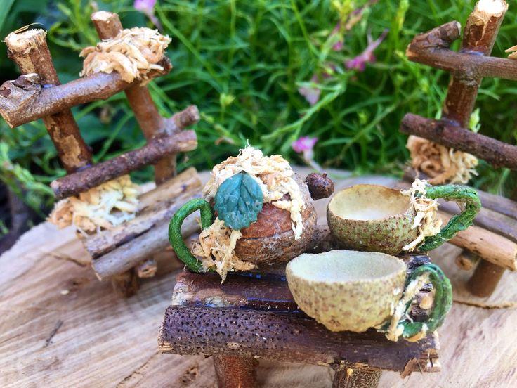 A personal favourite from my Etsy shop https://www.etsy.com/uk/listing/591838055/acorn-tea-set-tea-pot-fairy-tea-set