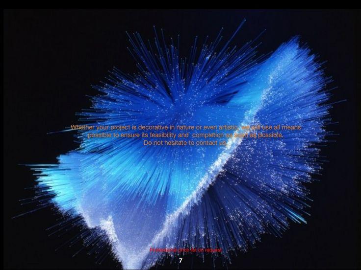 Fiber optic luminous fabric : glowing fabrics