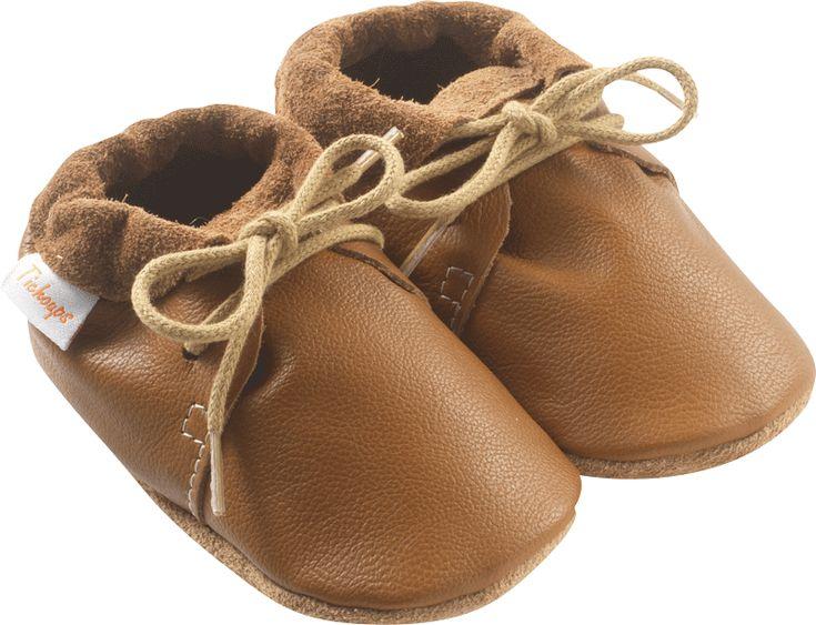 Chaussures bébé cuir souple tilou camel - chaussures cuir souple - chaussures souples bébé - chaussures en cuir souple – Tichoups.