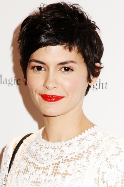 Behold: the ultimate French-girl-chic pixie, courtesy of Audrey Tautou.  #refinery29 http://www.refinery29.com/pixie-haircut-inspiration#slide-4