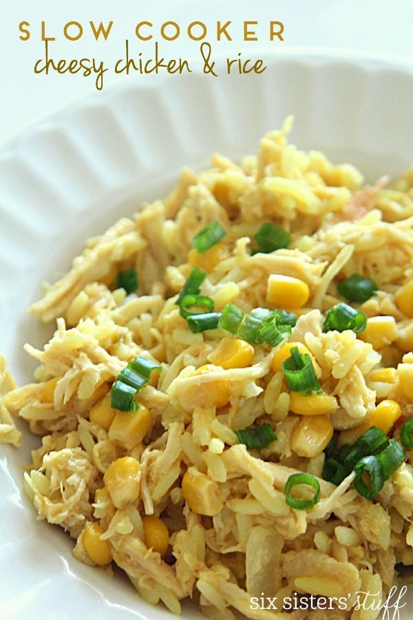 Slow Cooker Cheesy Chicken and Rice | Six Sisters' Stuff | Bloglovin'