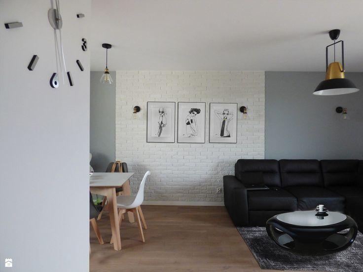 Cegła w salonie - zdjęcie od evarte - Salon - Styl Nowoczesny - evarte
