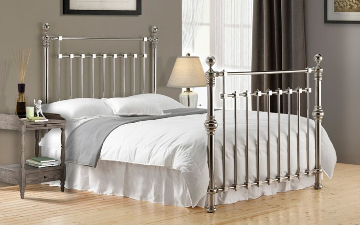 Time Living Edward 4FT 6 Double Metal Bedstead