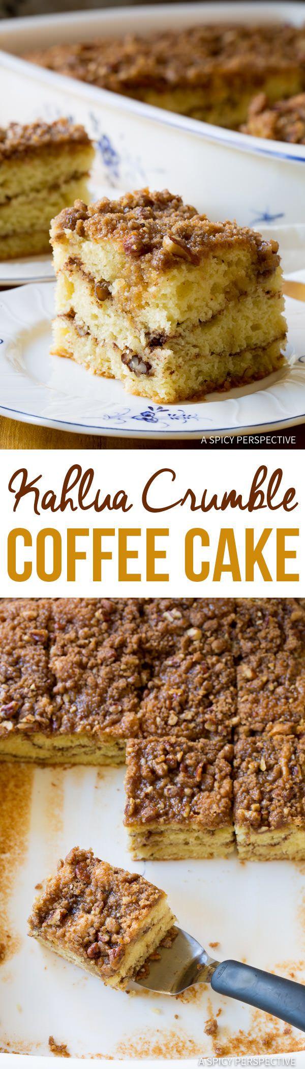 Tender Boozy Kahlua Coffee Cake Recipe | ASpicyPerspective.com