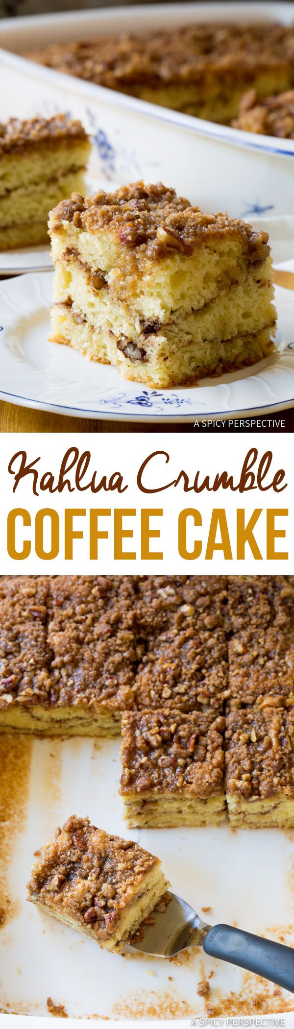 Tender Boozy Kahlua Coffee Cake Recipe | ASpicyPerspective.com